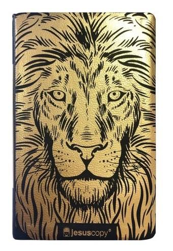 Bíblia Jesuscopy Leão Dourado Luxo NVI