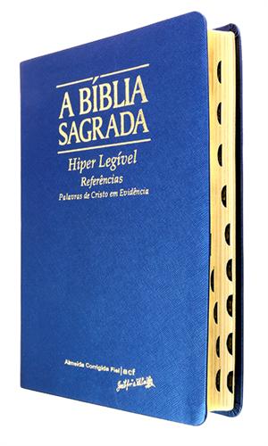 Bíblia Letra Hiper Legível Azul