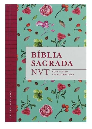 Bíblia NVT Letra Grande Flores Tiffany - Capa dura