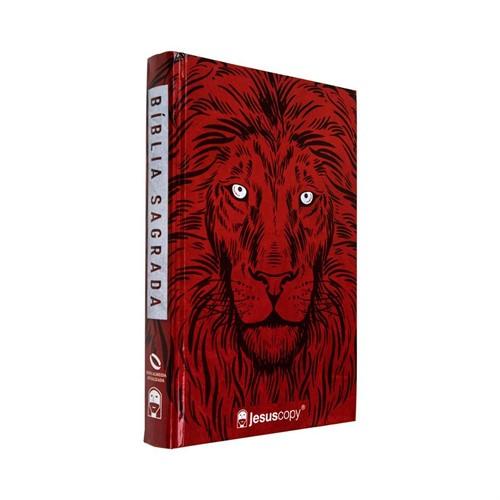 Bíblia JesusCopy – capa dura/ Leão vermelho – Nova Almeida Atualizada