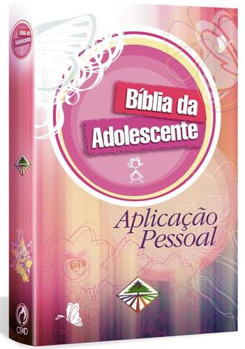 Bíblia Da Adolescente Aplicação Pessoal Rosa Capa Dura