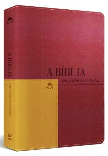 Bíblia Cronológica Vermelha e Mostarda NVI