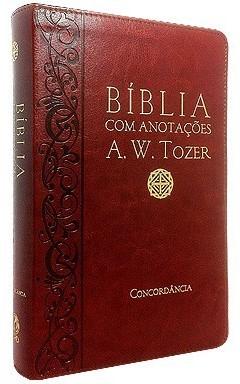 Bíblia A. W. Tozer Média Luxo Vinho