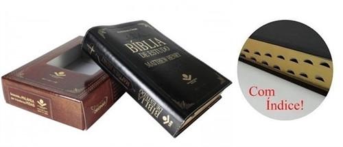 Bíblia De Estudo Matthew Henry Preto Luxo