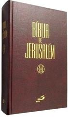 BÍBLIA DE JERUSALÉM GRANDE CAPA DURA-MARROM