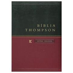 BÍBLIA THOMPSON AEC LETRA GRANDE COM ÍNDICE -VERDE/VINHO