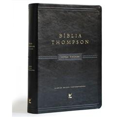BÍBLIA THOMPSON AEC LETRA GRANDE COM ÍNDICE CAPA LUXO PU PRETA