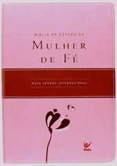 Bíblia de Estudo da Mulher de Fé Luxo Rosa/Vinil com Índice