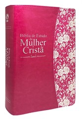 Bíblia de Estudo da Mulher Cristã Grande PU Pink Revista e Corrigida