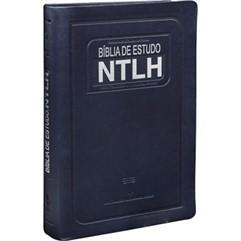 BÍBLIA DE ESTUDO NTLH MEDIA -AZUL PU NOBRE