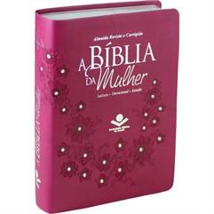 BÍBLIA DA MULHER MÉDIA COURO SINTÉTICO VINHO-RC