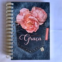 Agenda Permanente Maravilhosa Graça - Grande - Jeans