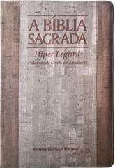 Bíblia Letra Hiper Legível Madeira