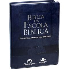 BÍBLIA DA ESCOLA BÍBLICA GRANDE COURO SINTÉTICO AZUL NOBRE- RA