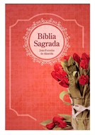 Bíblia Letra Grande Média Feminina Luxo Revista Corrigida