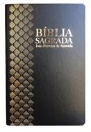Bíblia Semi-Luxo Preta Grande Revista Corrigida Com Mapa e Panorama Bíblico