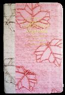 Bíblia Letra Grande Luxo Bi-Color Rosa Folha com Marfim Folha Costura Revista Atualizada