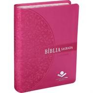 Bíblia Letra Grande Pink Beira Florida