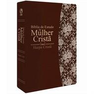 Bíblia de Estudo da Mulher Cristã Marrom - média com Harpa
