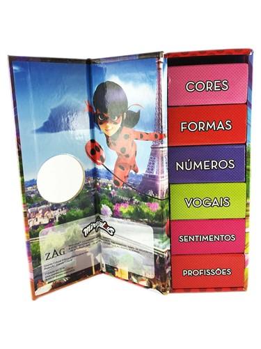 Ladybug - Biblioteca dos heróis- Box Torre com 6 mini livros