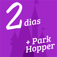 Ingresso 2 Dias + Park Hopper - Disneyland e Disney's California Adventure - ADULTO (10 anos ou +) - 2017 ou 2018