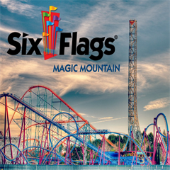 Ingresso 1 Dia - Six Flags Magic Mountain - O Parque com Maior Número de Montanhas Russas do Mundo - ADULTO ou CRIANÇA - 2017 ou 2018