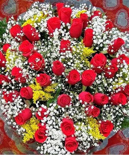 Bouquet 40 Rosas Vermelhas