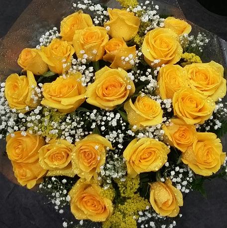 Bouquet 20 rosas amarelas