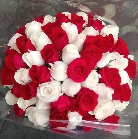 Bouquet Duas Cores - 72 rosas