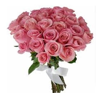 Bouquet 30 rosas na cor rosa