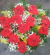 Bouquet 12 rosas GIGANTES colombianas