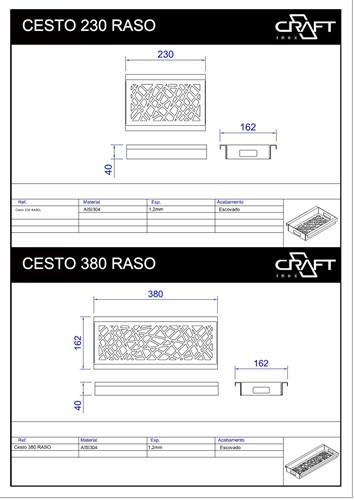 CESTO 380 RASO
