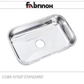 Cuba de cozinha de aço inox Nº2F 560x340x140mm