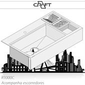 Cuba de semi-encaixe de cozinha FARMSINK R1000C