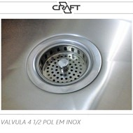 VALVULA 4 1/2 EM AÇO INOX
