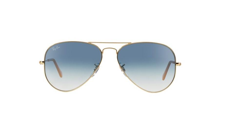 Óculos de Sol Ray Ban Aviador Azul Degradê ee25dbed80