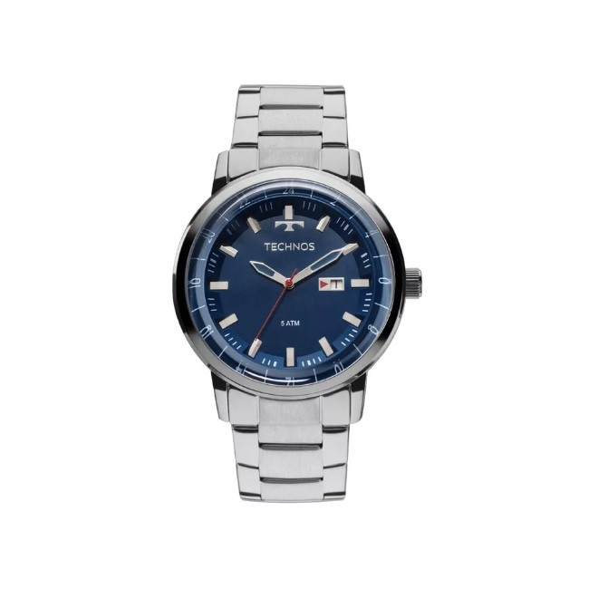 753e7e88cc6 Relógio de Pulso Technos Prata Masculino 2115LAO1A
