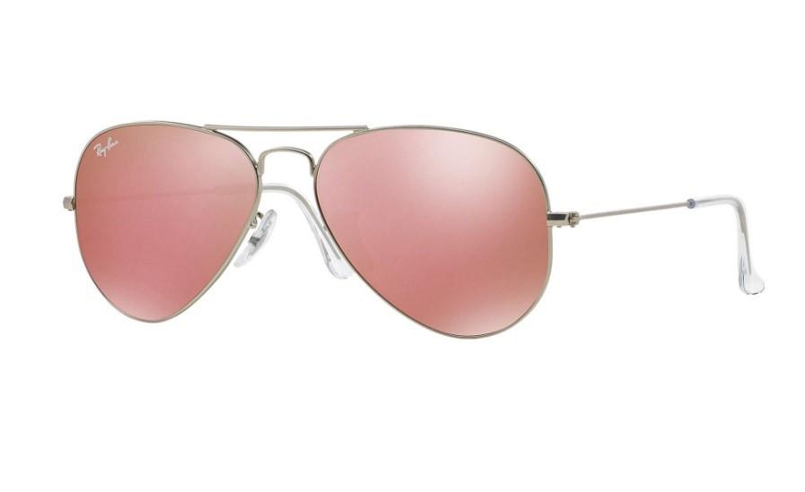 3b8cc089abf0d Óculos de Sol Ray Ban Aviador Rosa Espelhado
