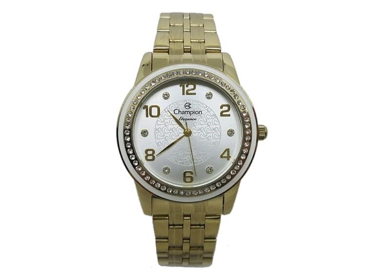 9fc53639158 Relógio de Pulso Champion Dourado Mostr Branco CN25761H