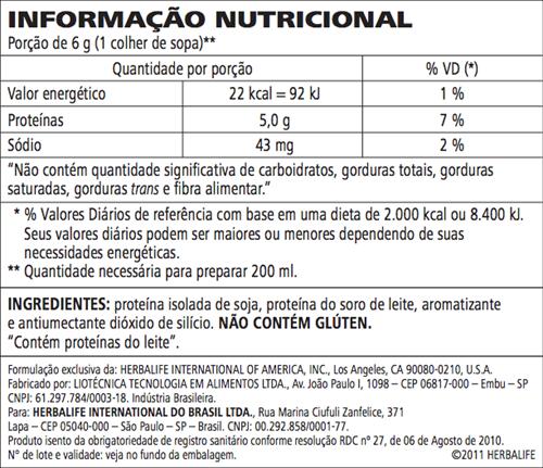 Protein Powder Herbalife ( Proteína de Soja ) Pequena 240g - 40 porções