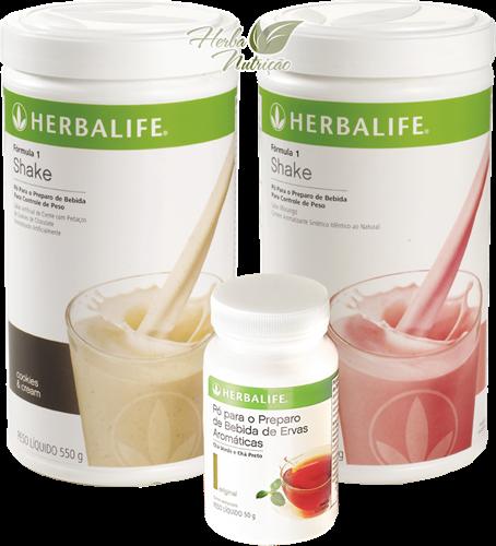 Programa Básico Simples (2 Shake Herbalife + 1 Chá Herbalife 50g)
