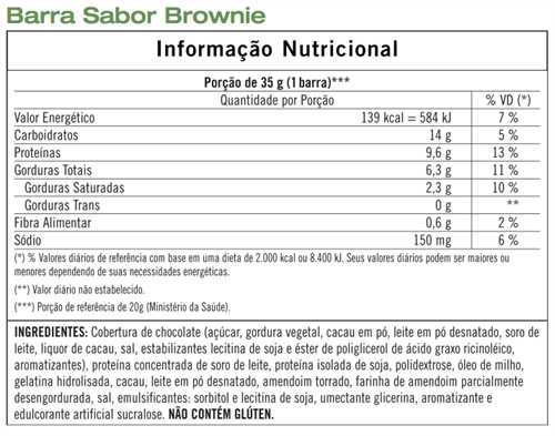 Barras de Proteínas Herbalife Brownie