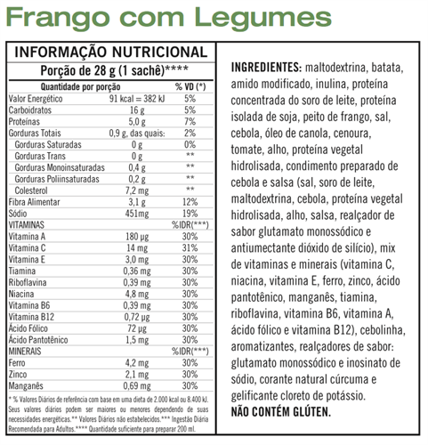 Sopa Instantâne Frango com Legumes Herbalife