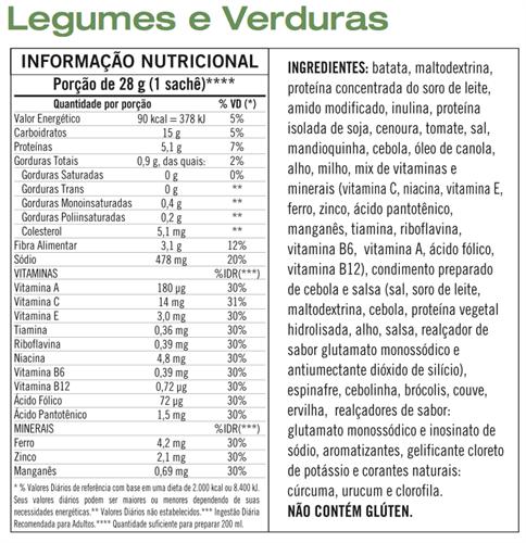 Sopa Instantâne Verdura e Legumes Herbalife