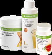 Fiber Mix Herbalife Pqno (Fiber Concetrate Herbalife + Chá Herbalife 50g + Protein Powder Herbalife 240g)